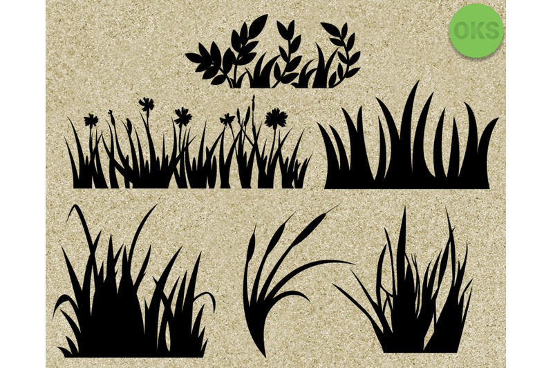 Grass Svg Bundle Grass Svg Vector For Cricut By Crafteroks