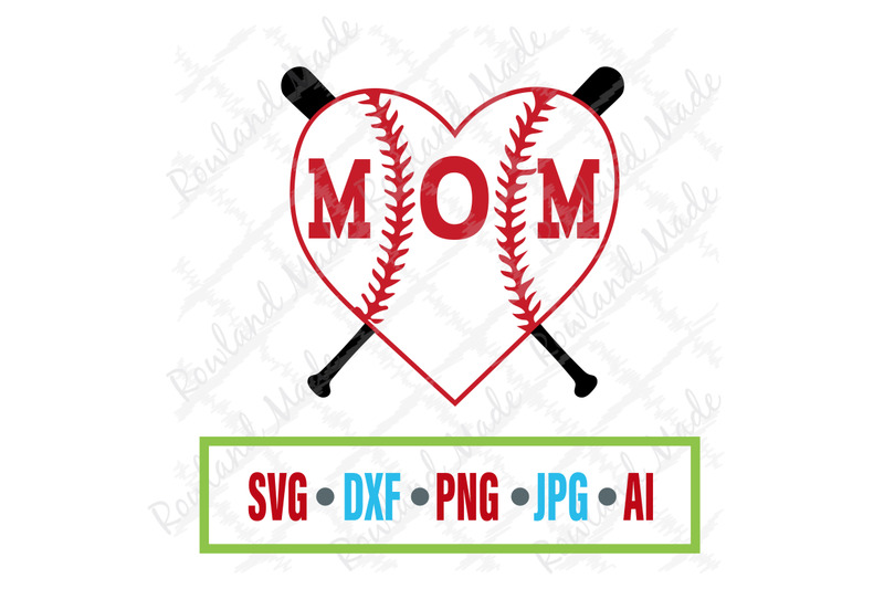 Baseball Heart Mom Svg Mother S Day Svg By Rowland Made