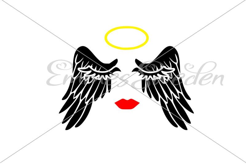 Angel Svg Wings Svg Halo Svg By Emmessweden Thehungryjpeg Com
