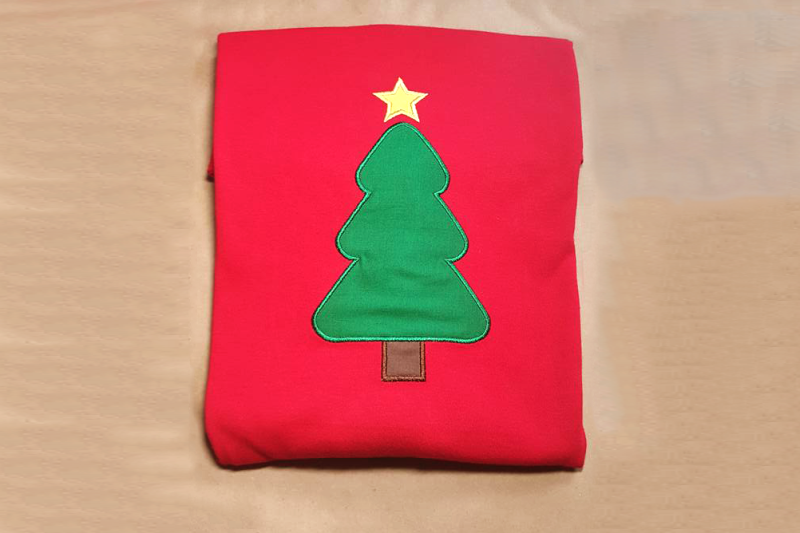 Christmas Tree Applique Embroidery By Designed By Geeks
