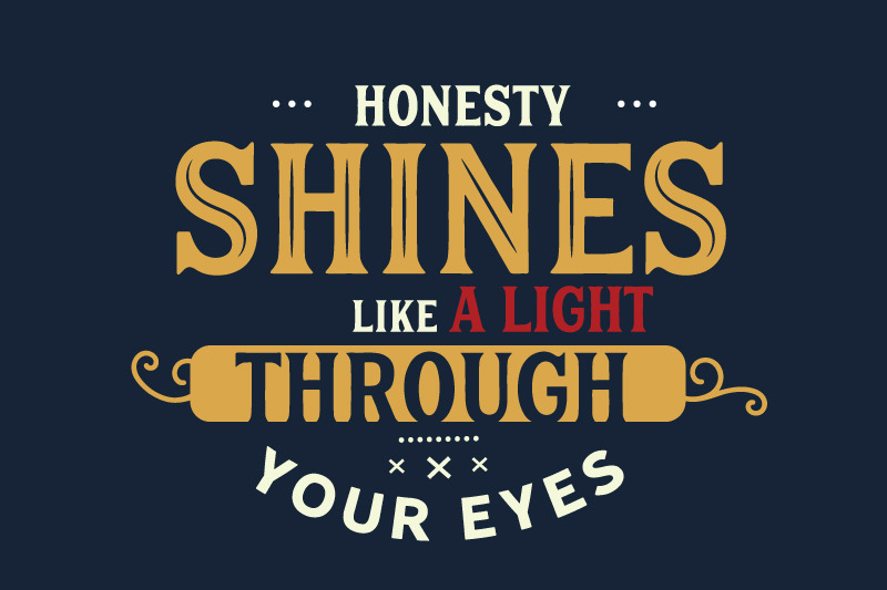 Honesty Quotes By baraiko art | TheHungryJPEG com