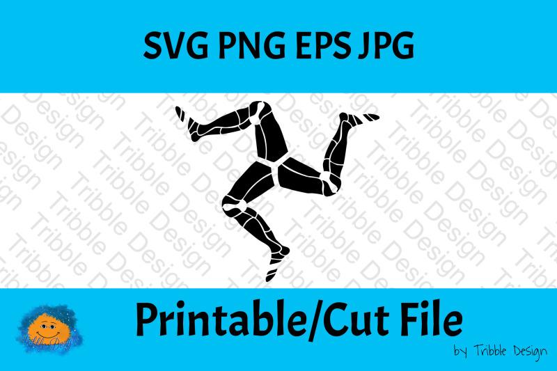 3 Legs Of Man Isle Of Man Symbol Printable File Cut Files