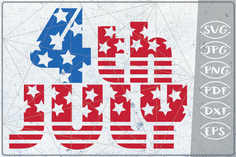 4th Of July Svg Independence Day Crafters America Flag Files By