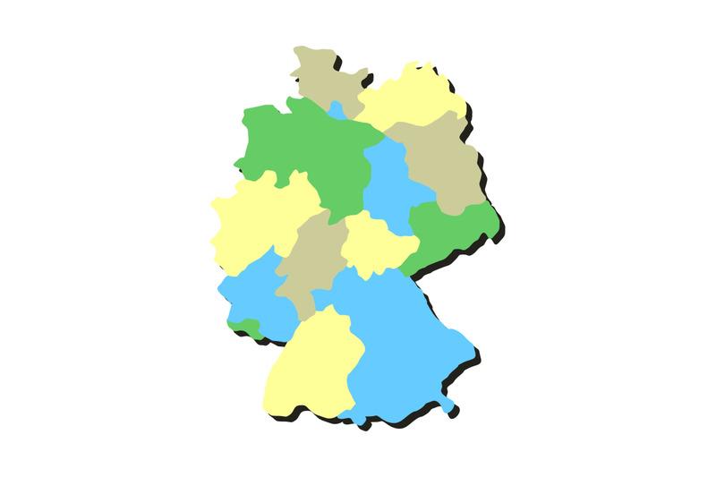 Germany Map With Regions By Marco Livolsi Thehungryjpeg Com