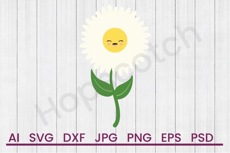 Happy Daisy - SVG File, DXF File By Hopscotch Designs