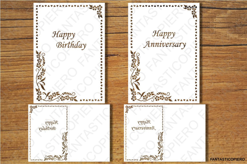 Happy Birthday Happy Anniversary Thank You Greeting Card Svg