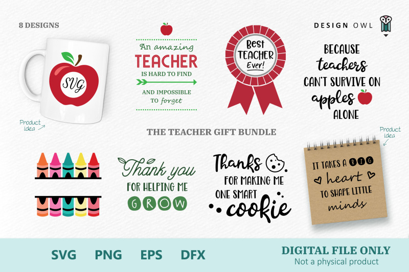 The Teacher Gift Bundle Svg Files By Design Owl Thehungryjpeg Com