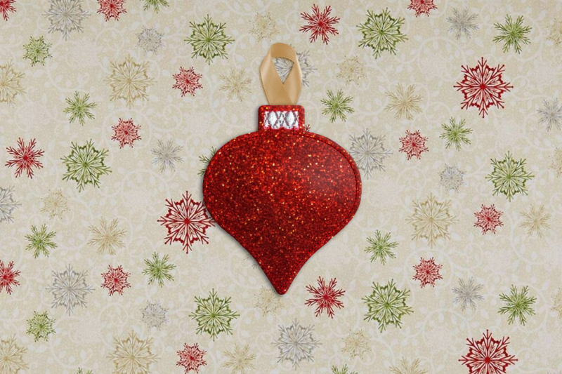 Glass Onion Christmas Ornament Feltie Ith Applique Embroidery By