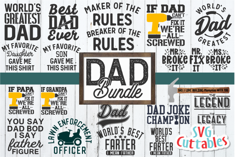 Dad Bundle Father S Day Svg Cut File By Svg Cuttables