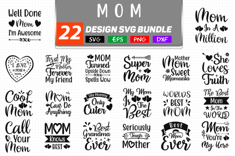 Mom Svg Bundle By Teewinkle Thehungryjpeg Com