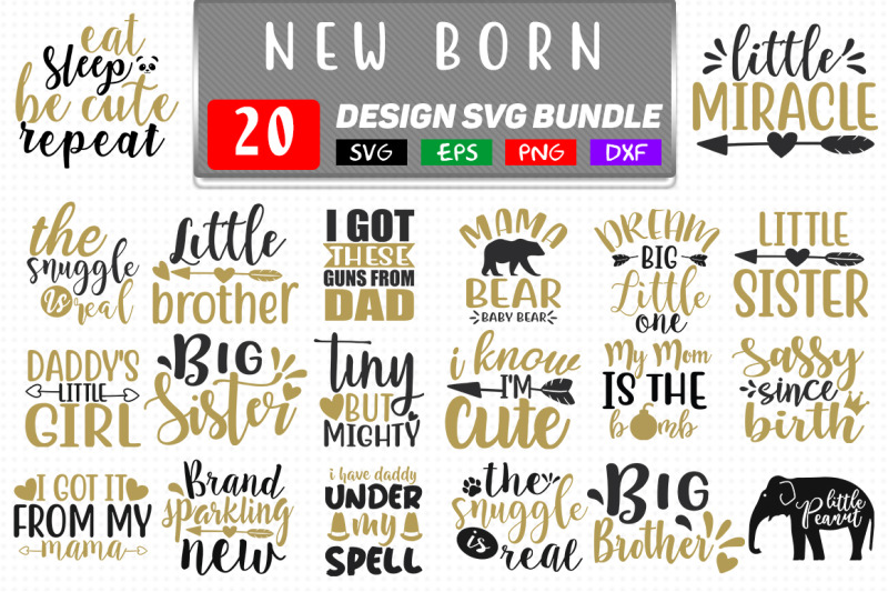 New Born Baby Svg Bundle Baby Svg Design By Teewinkle