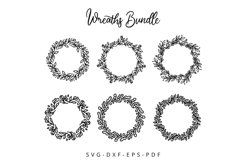 Floral Wreaths Bundle By Letterstuff Typefoundry Thehungryjpeg Com