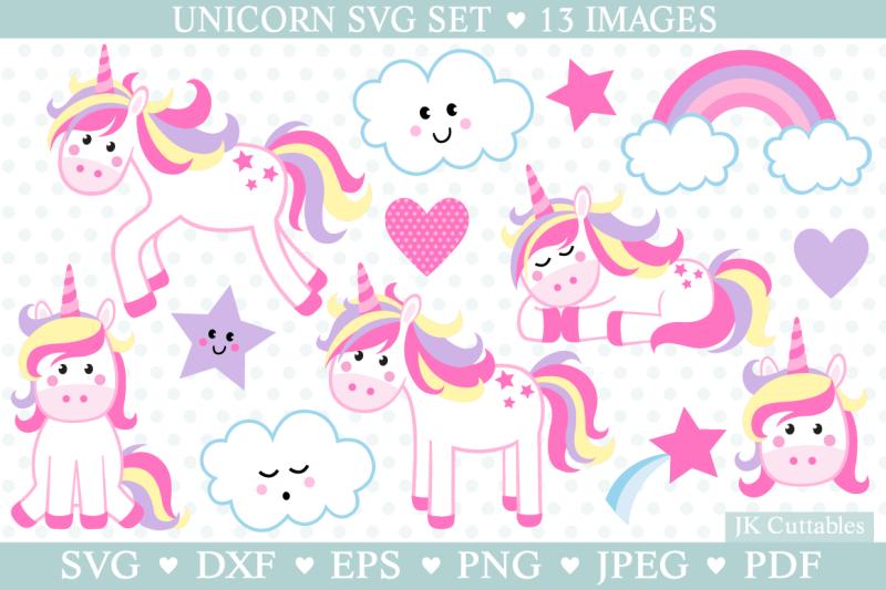 Unicorn Svg Cute Unicorn Cut Files Unicorn Clipart By