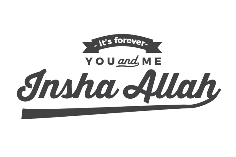 its forever you & me Insha Allah  By baraiko art | TheHungryJPEG com