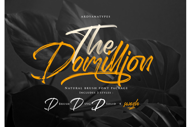 Domillion Brush By Ardyanatypes Thehungryjpeg Com