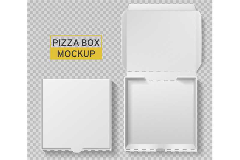 Download Textured Kraft Opened Pizza Box Mockup Yellow Images