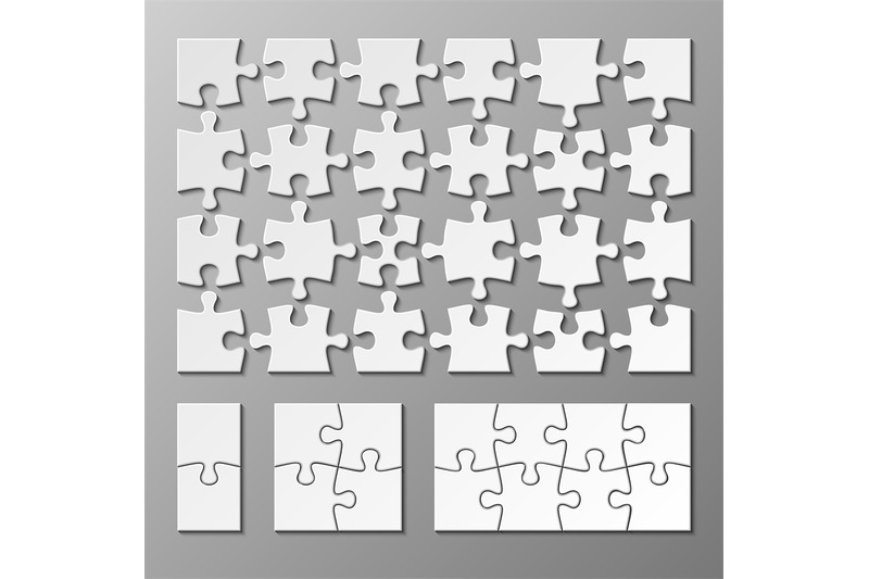 Jigsaw Puzzle Piece Vector Template Isolated By Microvector