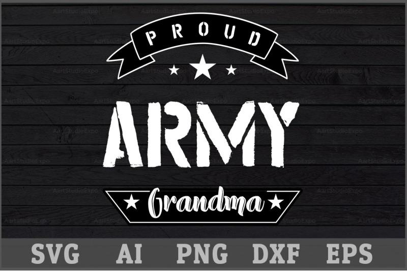 proud army grandma svg design by creative art