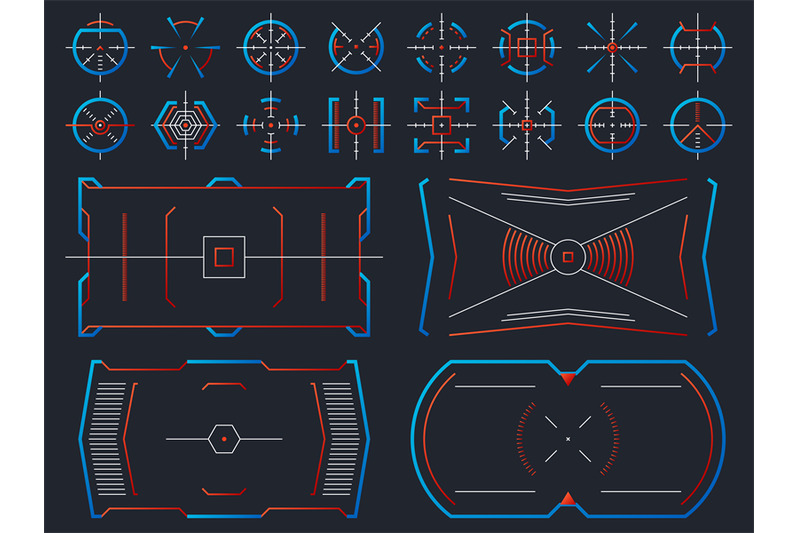 Futuristic Hightech Virtual Screen Design Computer Systems Hud Panel By Microvector Thehungryjpeg Com