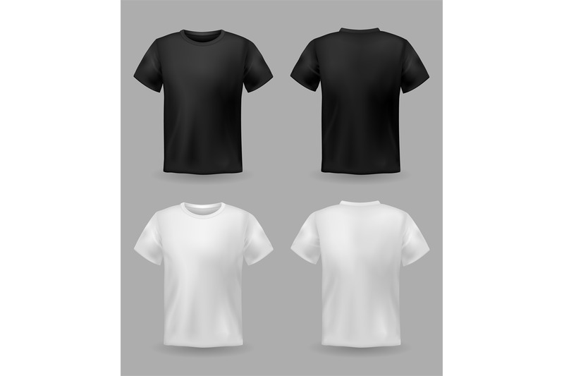 White And Black T Shirt Mockup Sport Blank Shirt Template Front And B By Yummybuum Thehungryjpeg Com
