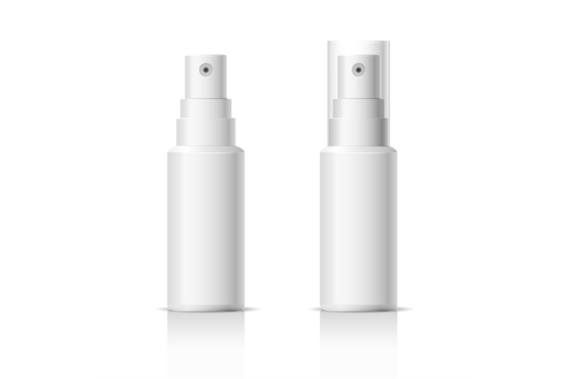Download Cosmetic Bottle With Pump Mockup Yellowimages