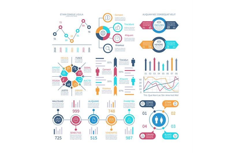 Infographic Charts Infochart Elements Marketing Chart And Graphs