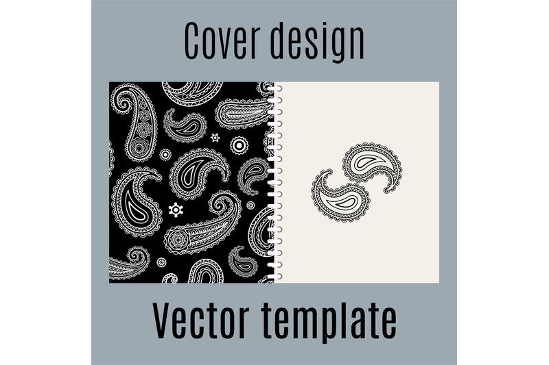 Cover Design With Indian Paisley Pattern By Smartstartstocker