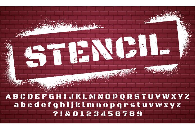 Stencil Font Graffiti Spray Painted Alphabet Dirty