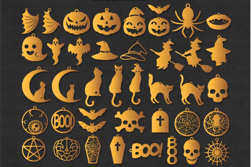 42 Halloween Earrings Svg Halloween Earrings Template Bundle Svg