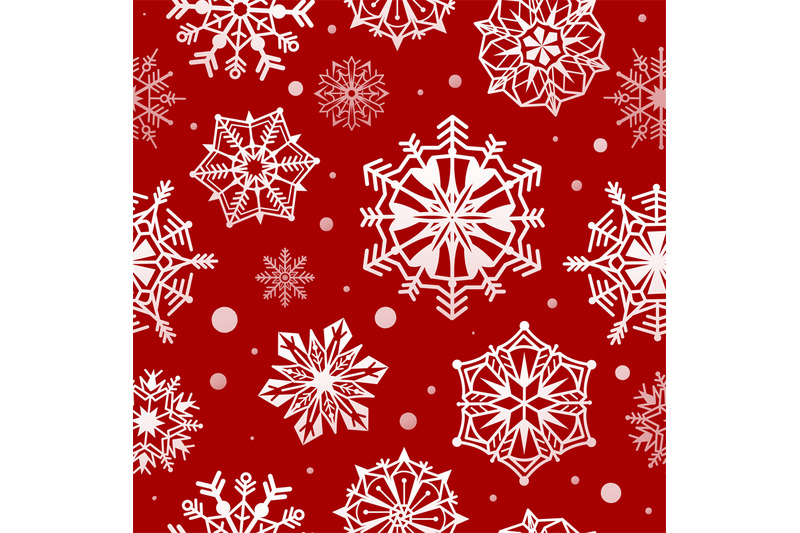 Snowflakes Seamless Pattern Abstract Christmas Snow Wallpaper