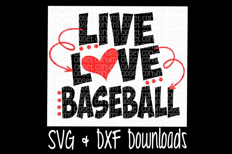Live Love Baseball Cutting File Design Svg Files Free Font