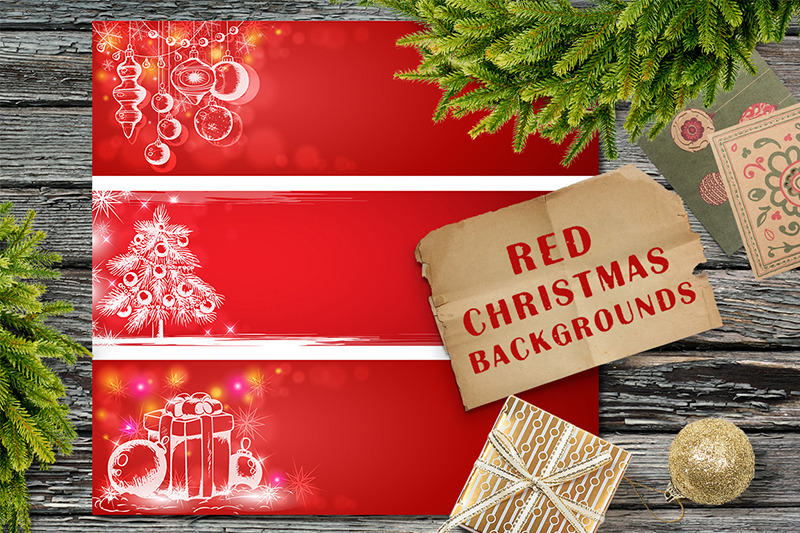 Red Christmas Backgrounds By Artspace Thehungryjpeg Com