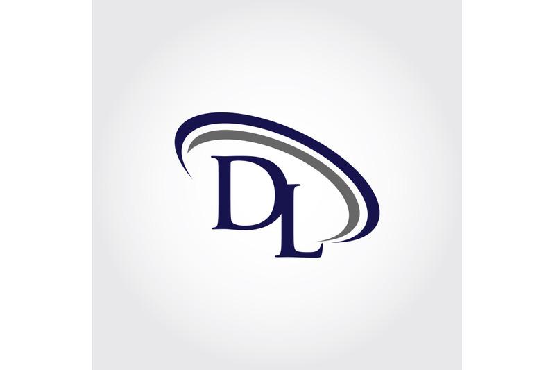 Monogram Dl Logo Design By Vectorseller Thehungryjpeg Com