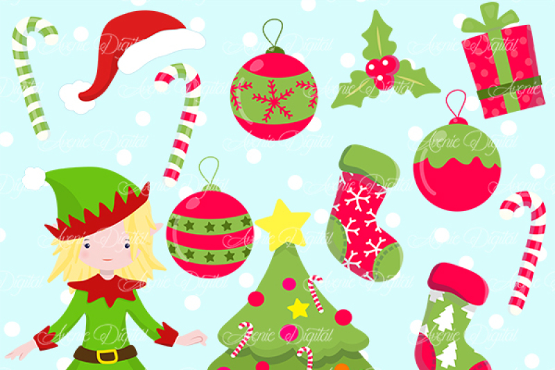 Christmas Decoration Clipart Vectors By Aveniedigital