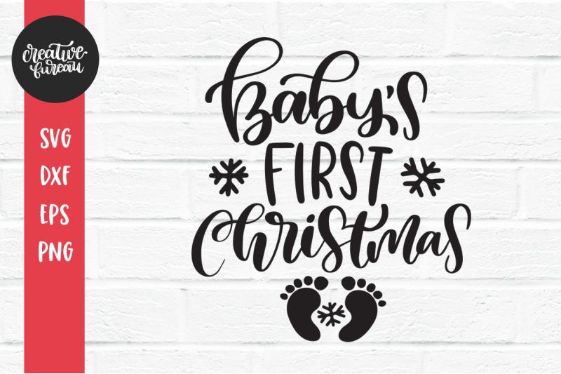 1st Christmas SVG Baby Christmas Svg Cut File