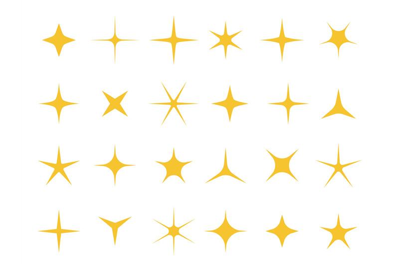 Shiny Stars Sparkle Light Bright Star And Sparkles Shape Vector