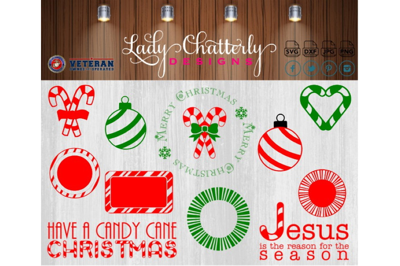 Lc010 Candy Cane Christmas By Lady Chatterly Deigns