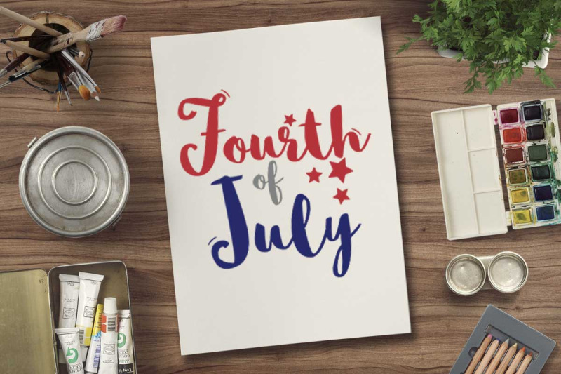 Fourth Of July Svg File For 4th July Tshirt By Cuttingsvg