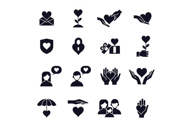 Love And Heart Icons Love Couple Family Children And Romantic