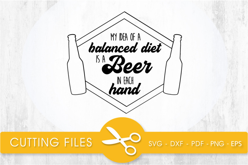 Beer In Each Hands Svg Cutting File Svg Dxf Pdf Eps By