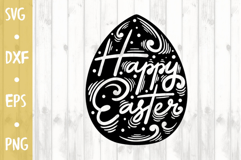 Happy Easter Svg Cut File By Milkimil Thehungryjpeg Com