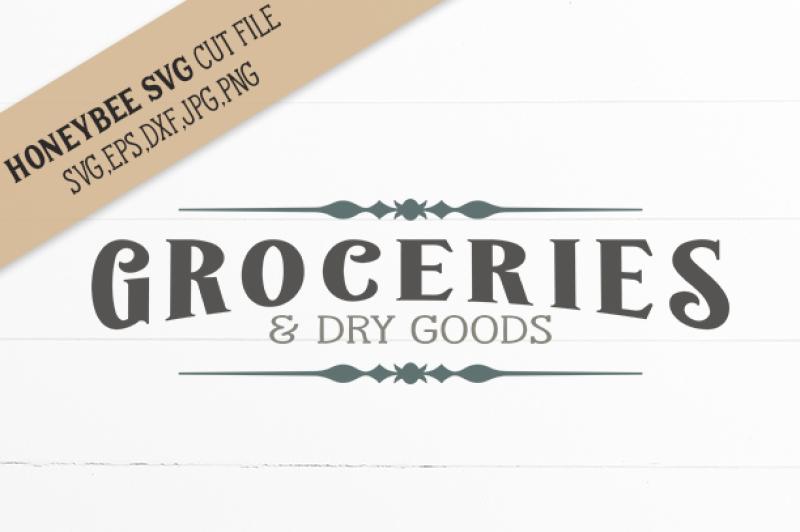 Groceries Dry Goods By Honeybee Svg Thehungryjpeg Com