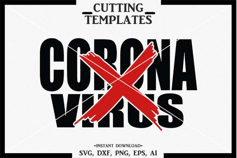 Corona Virus Svg Silhouette Cricut Cameo Svg Dxf Png By