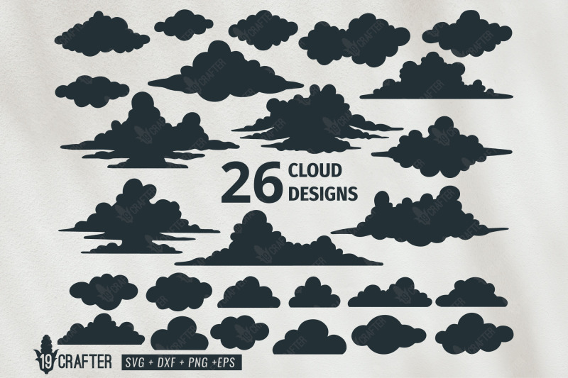 Cloud Vector Design Svg Bundle By Greatype19 Thehungryjpeg Com
