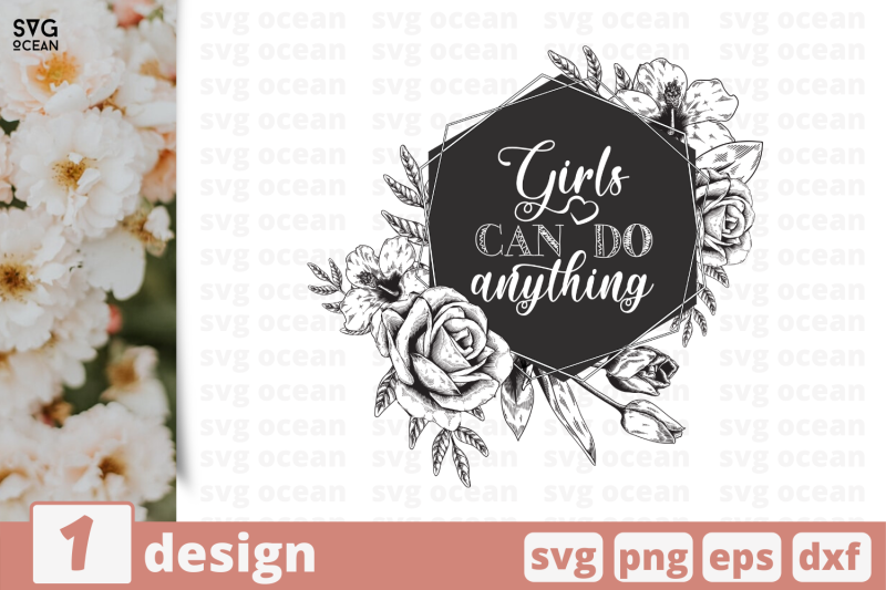 1 Girls Svg Bundle Flowers Cricut Svg By Svgocean Thehungryjpeg Com