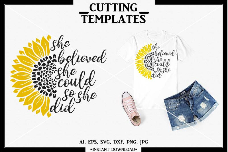 Sunflower, Sunflower SVG, Silhouette Cameo, Cricut, Cameo ...