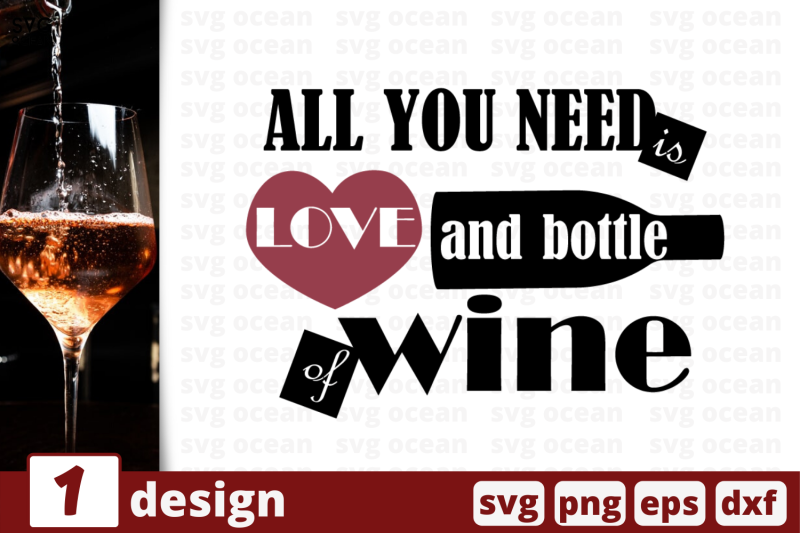 1 Love And Bottle Of Wine Svg Bundle Quotes Cricut Svg By