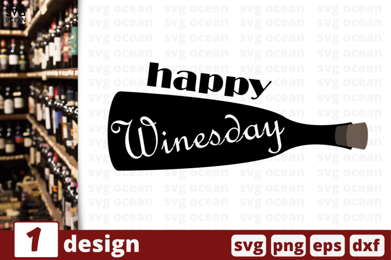 1 Happy Winesday Svg Bundle Quotes Cricut Svg By Svgocean