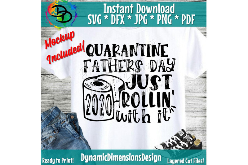 Quarantine Fathers Day Svg Fathers Day 2020 The One Where