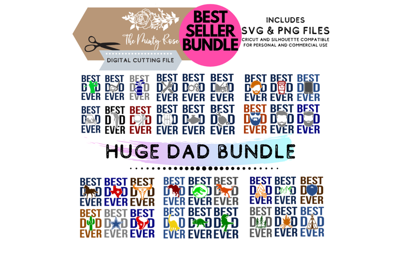 Huge Dad Bundle Best Dad Ever Father S Day Svg Png By The